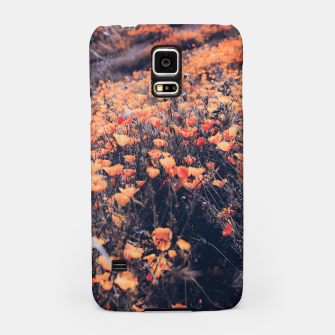 Thumbnail image of blooming yellow poppy flower field in California, USA Samsung Case, Live Heroes