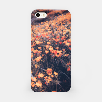 Thumbnail image of blooming yellow poppy flower field in California, USA iPhone Case, Live Heroes