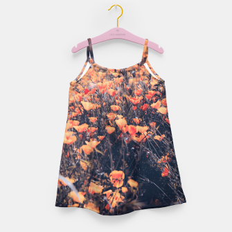 Thumbnail image of blooming yellow poppy flower field in California, USA Girl's dress, Live Heroes