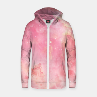 Thumbnail image of Pink clouds Cotton zip up hoodie, Live Heroes