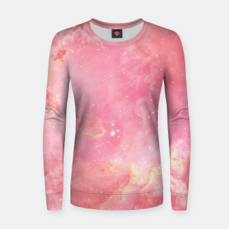 Thumbnail image of Pink clouds Woman cotton sweater, Live Heroes