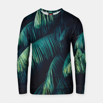 Thumbnail image of Palm tree leaf green Cotton sweater, Live Heroes