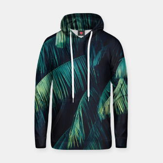 Thumbnail image of Palm tree leaf green Cotton hoodie, Live Heroes