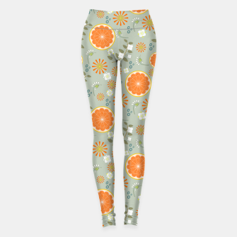 Miniatur Oranges with White Flowers Leggings, Live Heroes