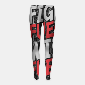 Fight Fuego With Fuego Girl's leggings thumbnail image