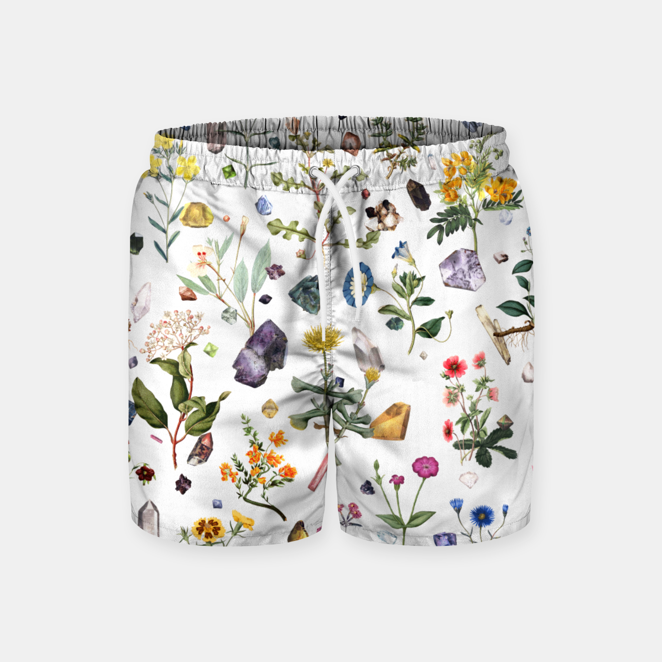 Image of Healing white Swim Shorts - Live Heroes