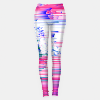 Miniaturka Only 90s Kids - Pastel Glitchy Abstract Pixel Art Leggings, Live Heroes
