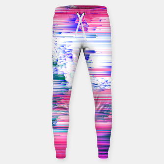 Miniaturka Only 90s Kids - Pastel Glitchy Abstract Pixel Art Cotton sweatpants, Live Heroes