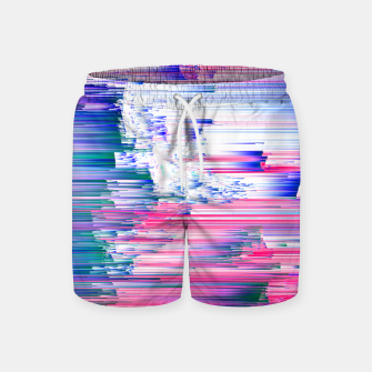 Miniaturka Only 90s Kids - Pastel Glitchy Abstract Pixel Art Swim Shorts, Live Heroes