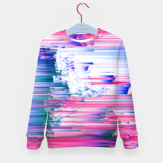 Miniaturka Only 90s Kids - Pastel Glitchy Abstract Pixel Art Kid's sweater, Live Heroes