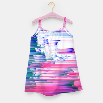 Miniaturka Only 90s Kids - Pastel Glitchy Abstract Pixel Art Girl's dress, Live Heroes