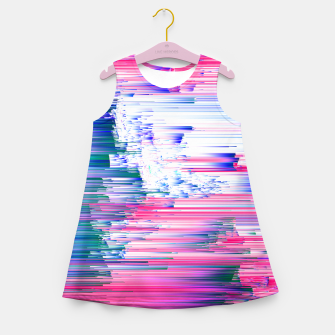 Miniaturka Only 90s Kids - Pastel Glitchy Abstract Pixel Art Girl's summer dress, Live Heroes