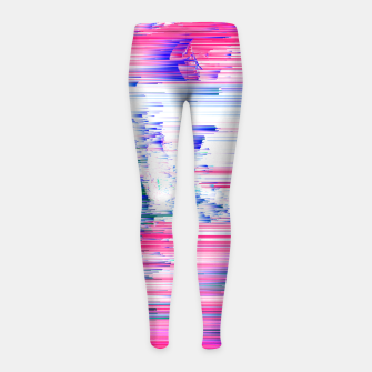Miniaturka Only 90s Kids - Pastel Glitchy Abstract Pixel Art Girl's leggings, Live Heroes