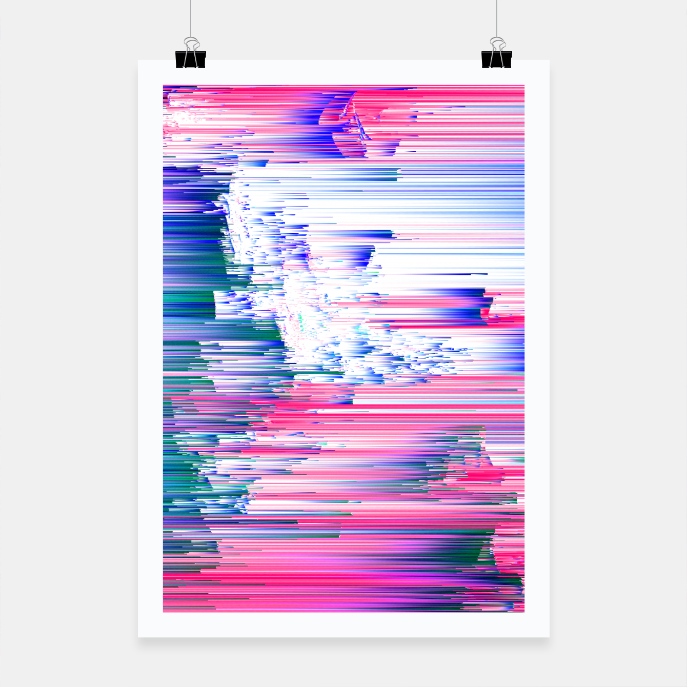 Only 90s Kids - Pastel Glitchy Abstract Pixel Art Poster, Live Heroes