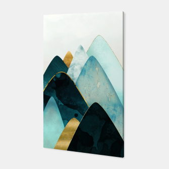 Thumbnail image of Gold and Blue Hills Canvas, Live Heroes