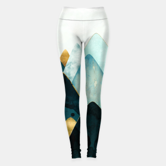 Miniatur Gold and Blue Hills Leggings, Live Heroes