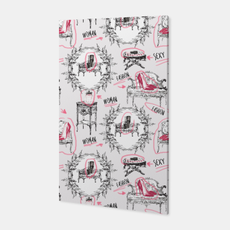 Thumbnail image of Toile fashion women Canvas, Live Heroes