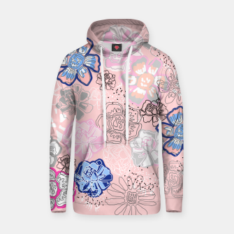 Thumbnail image of Pretty Flowers Cotton hoodie, Live Heroes