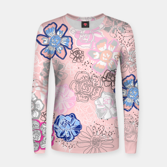 Thumbnail image of Pretty Flowers Woman cotton sweater, Live Heroes