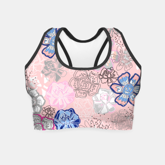 Thumbnail image of Pretty Flowers Crop Top, Live Heroes