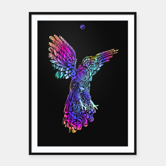 Thumbnail image of Gallito de las rocas #trippy #version #b by #Bizzartino Framed poster, Live Heroes