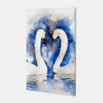 Thumbnail image of Beautiful Swan Couple Canvas, Live Heroes