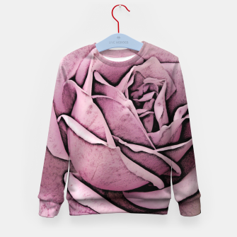 Miniature de image de Pink Rose Kid's sweater, Live Heroes