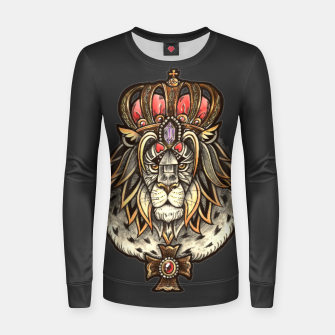 Thumbnail image of Black True King Woman cotton sweater, Live Heroes