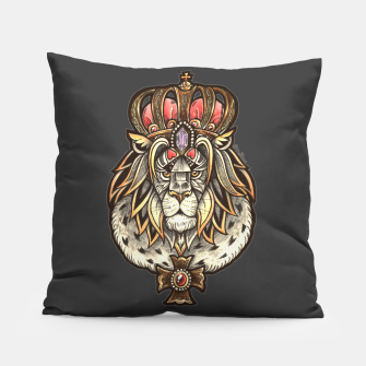 Thumbnail image of Black True King Pillow, Live Heroes
