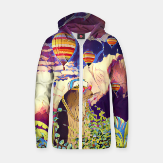 Miniatur Air Balloons Cotton zip up hoodie, Live Heroes