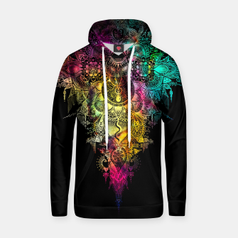 "Thumbnail image of Mandala - ""Anosognosia"" - flowers and galaxy Cotton hoodie, Live Heroes"