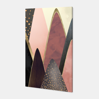 Thumbnail image of Pink and Gold Peaks Canvas, Live Heroes