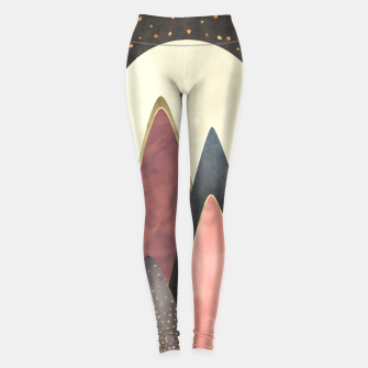 Miniatur Pink and Gold Peaks Leggings, Live Heroes