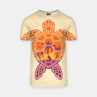 Thumbnail image of Tropical Sunset Sea Turtle Design T-shirt, Live Heroes