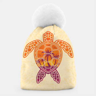 Thumbnail image of Tropical Sunset Sea Turtle Design Beanie, Live Heroes