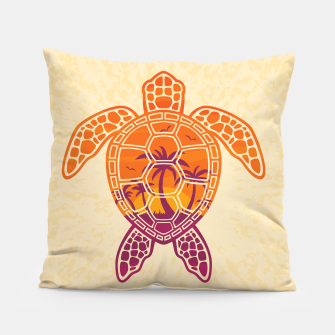 Miniaturka Tropical Sunset Sea Turtle Design Pillow, Live Heroes