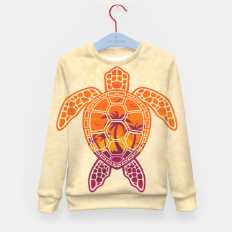 Thumbnail image of Tropical Sunset Sea Turtle Design Kid's sweater, Live Heroes