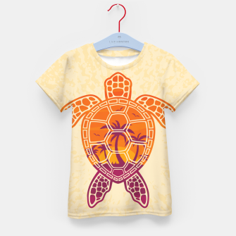 Thumbnail image of Tropical Sunset Sea Turtle Design Kid's t-shirt, Live Heroes