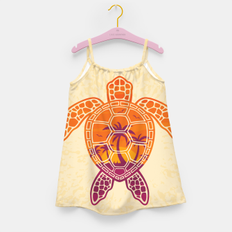 Thumbnail image of Tropical Sunset Sea Turtle Design Girl's dress, Live Heroes