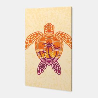 Thumbnail image of Tropical Sunset Sea Turtle Design Canvas, Live Heroes
