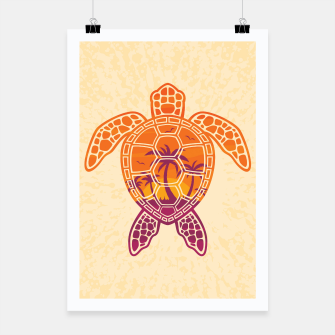 Thumbnail image of Tropical Sunset Sea Turtle Design Poster, Live Heroes