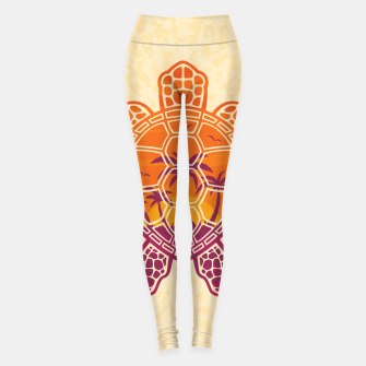 Thumbnail image of Tropical Sunset Sea Turtle Design Leggings, Live Heroes