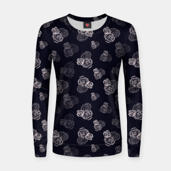 Thumbnail image of million roses! Woman cotton sweater, Live Heroes