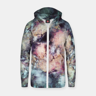 Thumbnail image of Solitary bloom Cotton zip up hoodie, Live Heroes