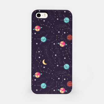 Thumbnail image of Universe with planets and stars seamless pattern, cosmos starry night sky 002 iPhone Case, Live Heroes
