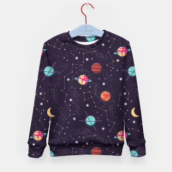 Thumbnail image of Universe with planets and stars seamless pattern, cosmos starry night sky 002 Kid's sweater, Live Heroes