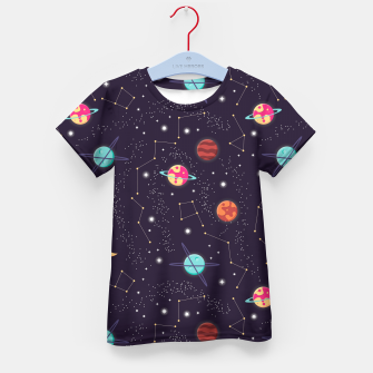 Thumbnail image of Universe with planets and stars seamless pattern, cosmos starry night sky 002 Kid's t-shirt, Live Heroes