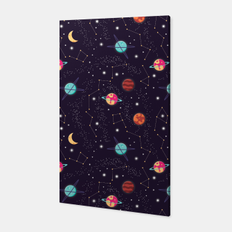 Thumbnail image of Universe with planets and stars seamless pattern, cosmos starry night sky 002 Canvas, Live Heroes