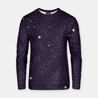 Thumbnail image of Universe with planets and stars seamless pattern, cosmos starry night sky 003 Cotton sweater, Live Heroes