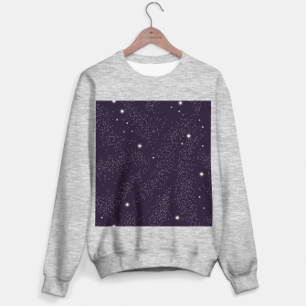 Thumbnail image of Universe with planets and stars seamless pattern, cosmos starry night sky 003 Sweater regular, Live Heroes